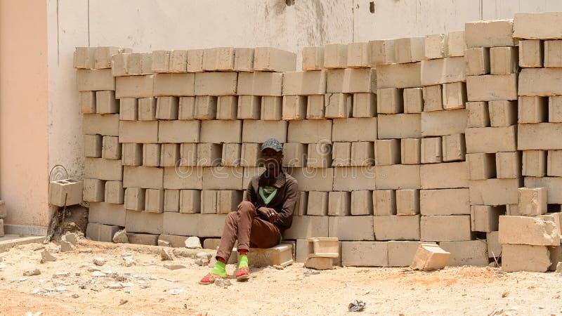 Oidentifierat senegalesiskt royaltyfri foto