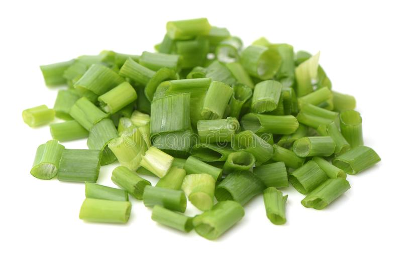 Oignon blanc organique d'oignon vert image stock