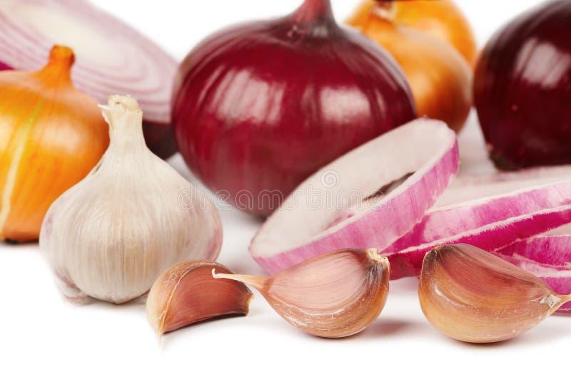 Oignon et ail images stock