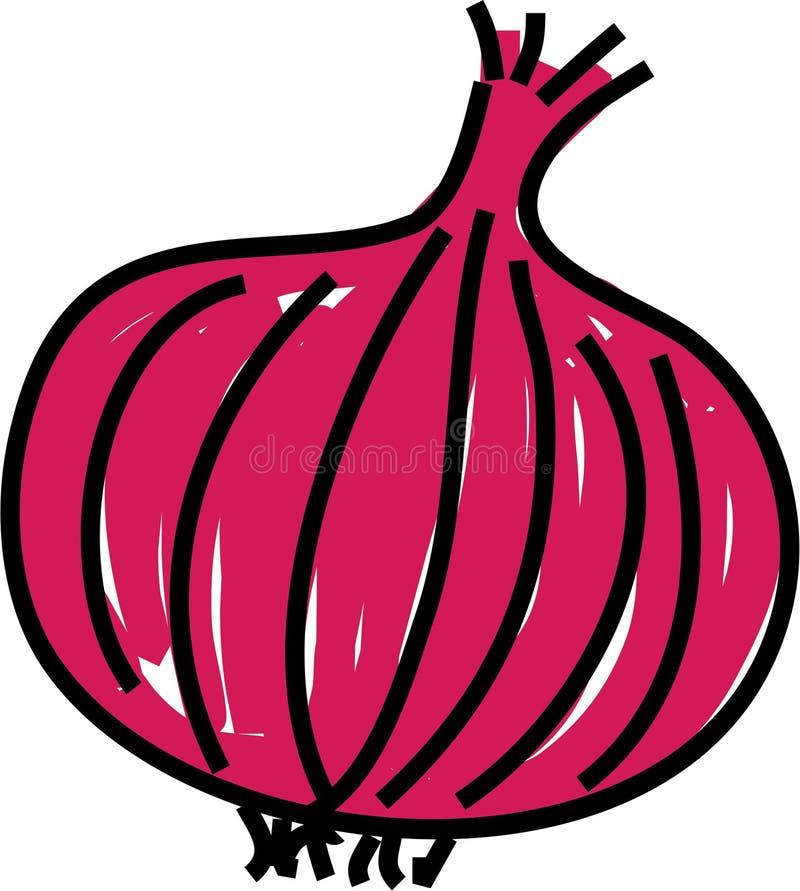 Oignon rouge illustration de vecteur