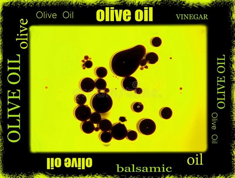 Balsamic vinegar and olive oil border stock photos