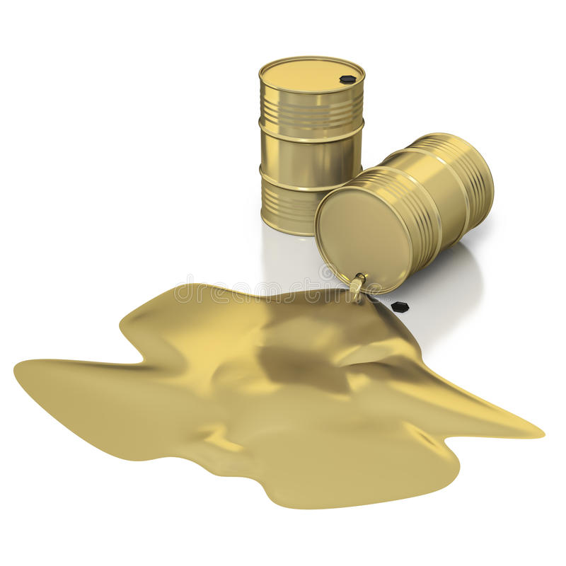 Oil as liquid gold royalty free stock photo