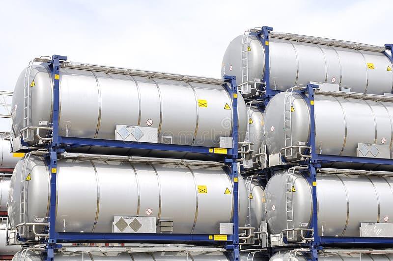 oil bärbara lagringsbehållare royaltyfria foton