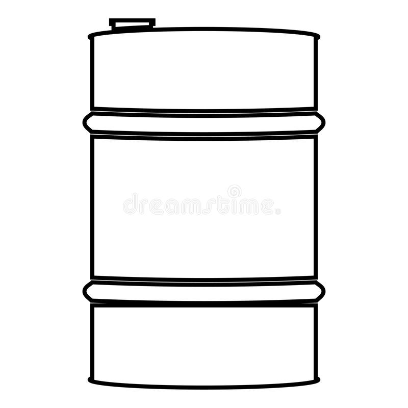 Oil baller icon black color illustration flat style simple image. Oil baller icon black color vector illustration flat style simple image royalty free illustration