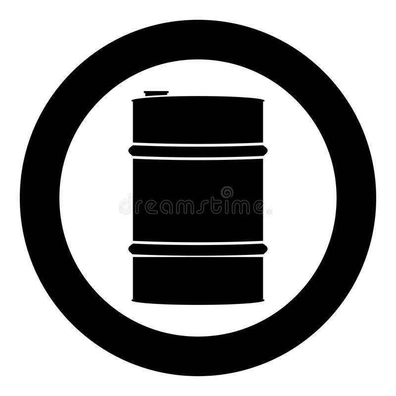 Oil baller icon black color vector illustration simple image vector illustration