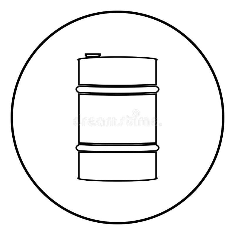 Oil baller icon black color vector illustration simple image stock illustration