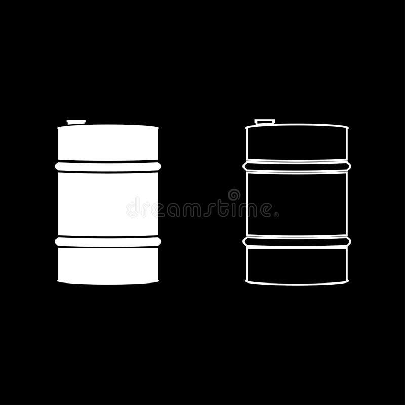 Oil baller icon set white color illustration flat style simple image royalty free illustration