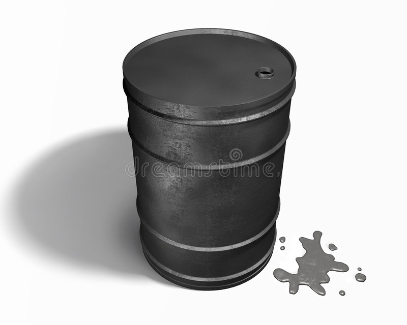 Oil barrel. 3D, fossil industry stock photography