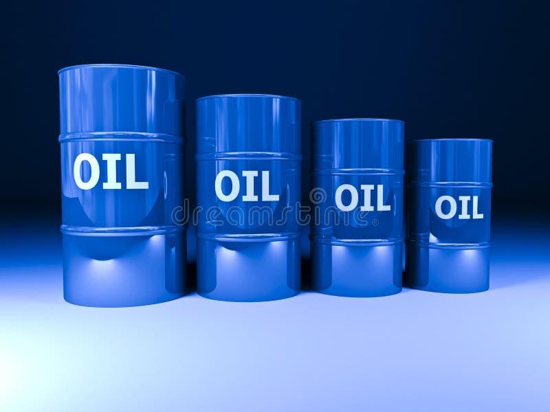 Oil barrel royalty free illustration