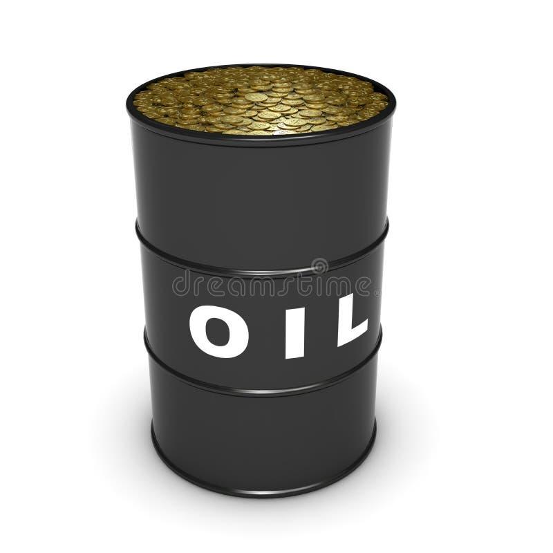 Download Oil barrel coins stock illustration. Image of business - 11713133