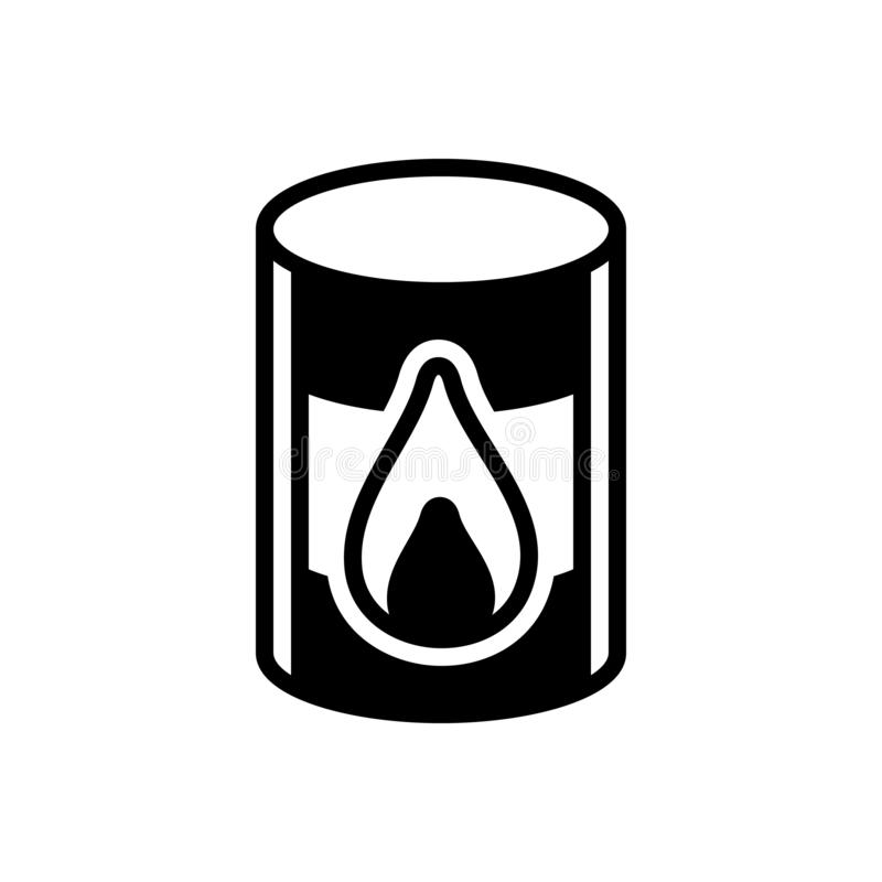 Black solid icon for Oil Barrel, barrel and chemical. Black solid icon for Oil Barrel, crisis, crude, diesel, natural, tanker, power,  barrel and chemical royalty free illustration