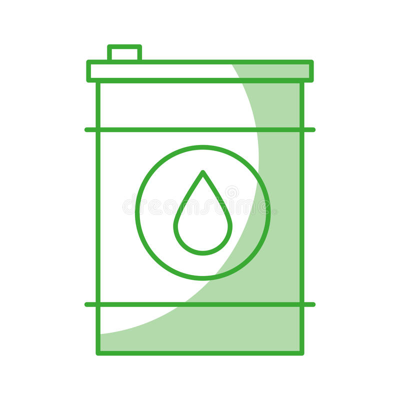 Oil barrel icon stock illustration