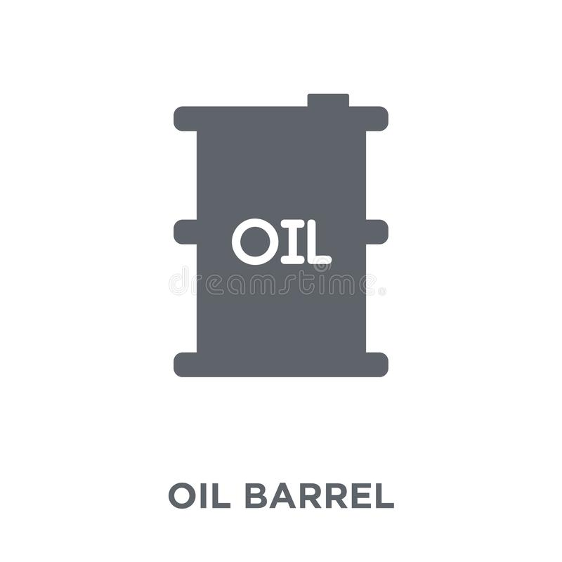 Oil barrel icon from Industry collection. Oil barrel icon. Oil barrel design concept from Industry collection. Simple element vector illustration on white stock illustration