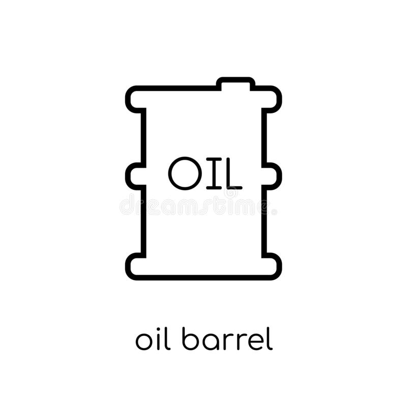 Oil barrel icon from Industry collection. Oil barrel icon. Trendy modern flat linear vector oil barrel icon on white background from thin line Industry vector illustration