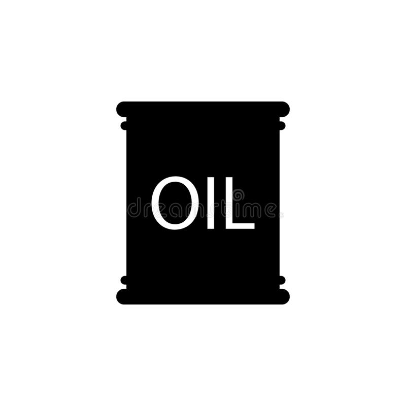 Oil Barrel icon. Simple glyph vector of energy for UI and UX, website or mobile application. On white background royalty free illustration