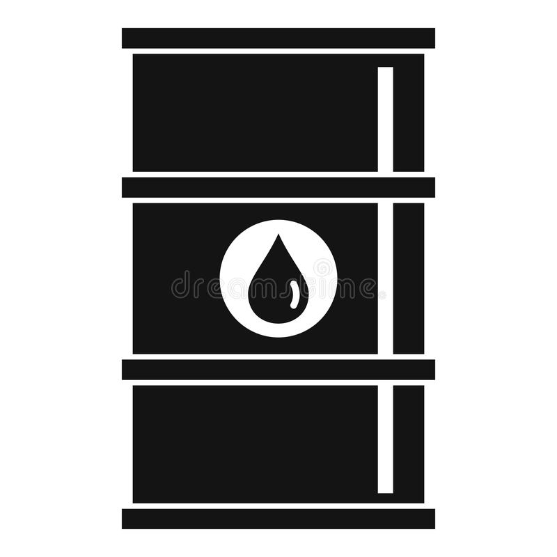 Oil barrel icon, simple style royalty free illustration