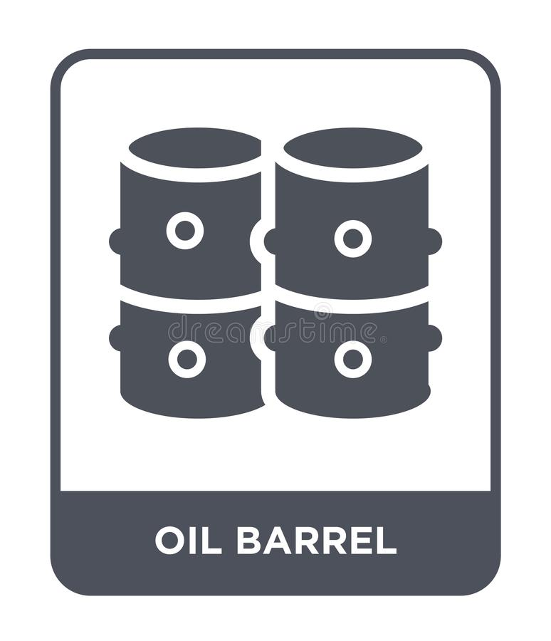 oil barrel icon in trendy design style. oil barrel icon isolated on white background. oil barrel vector icon simple and modern vector illustration