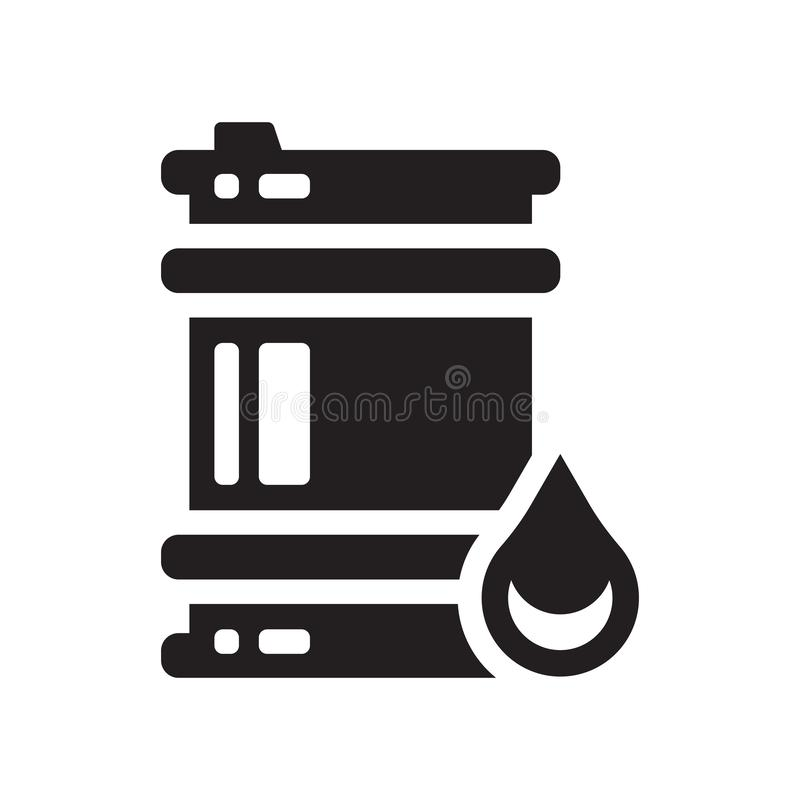 Oil barrel icon. Trendy Oil barrel logo concept on white background from Industry collection. Suitable for use on web apps, mobile apps and print media stock illustration