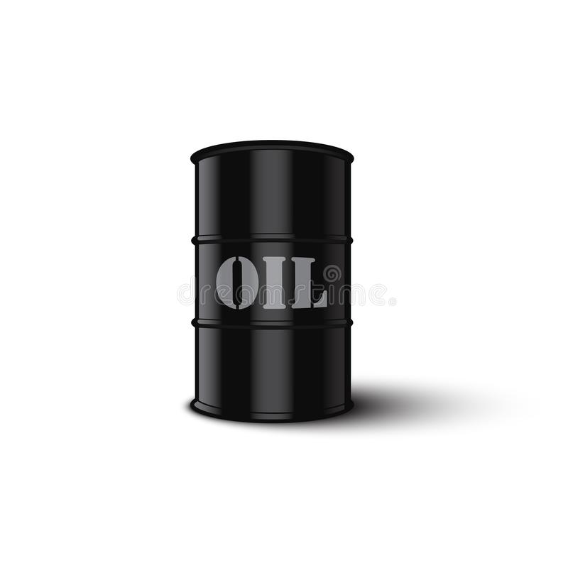 Oil barrel isolated on white background. Vector illustration. royalty free illustration