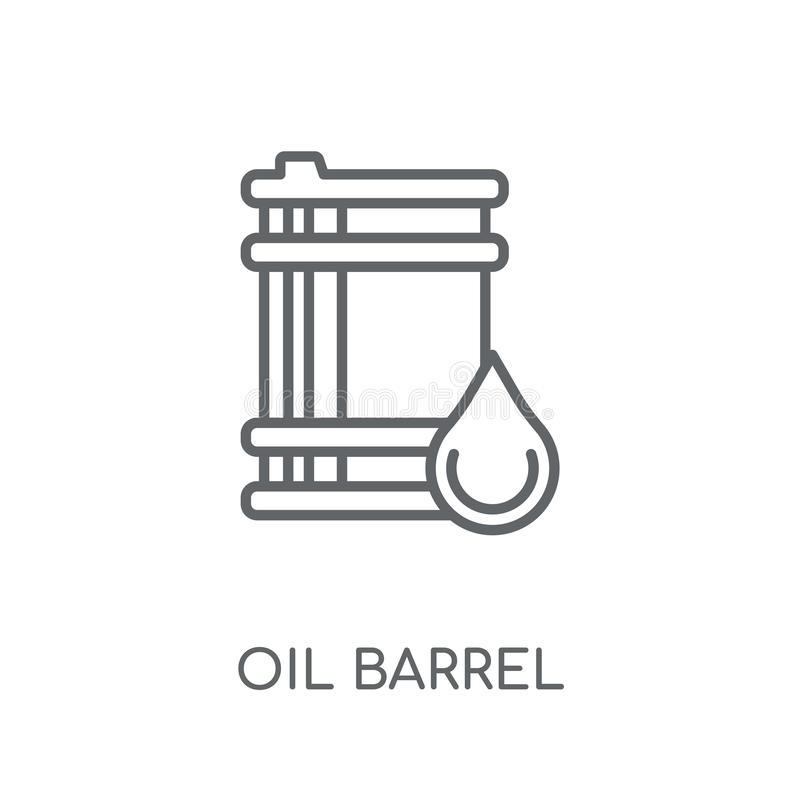 Oil barrel linear icon. Modern outline Oil barrel logo concept o. N white background from Industry collection. Suitable for use on web apps, mobile apps and royalty free illustration