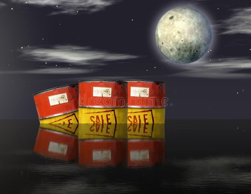 Oil barrels adrift stock photo