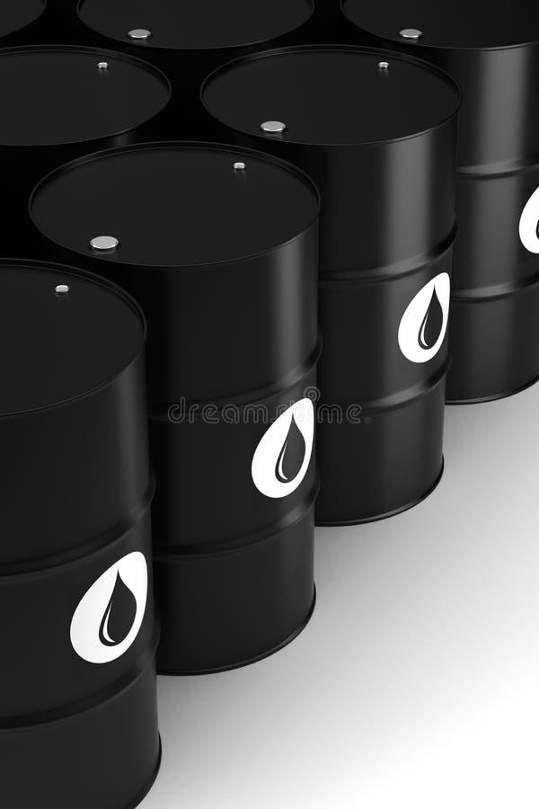 Oil Barrels. (Computer generated image stock illustration