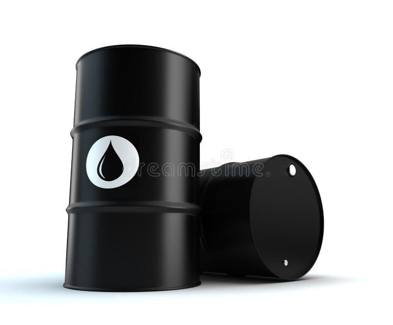 Oil Barrels royalty free illustration
