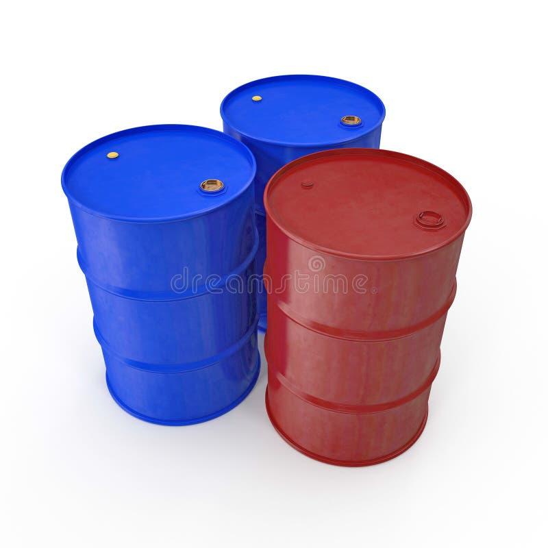 Oil barrels isolated on white. 3D illustration. Oil barrels isolated on white background. 3D illustration vector illustration