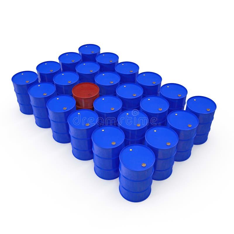 Oil barrels isolated on white. 3D illustration vector illustration