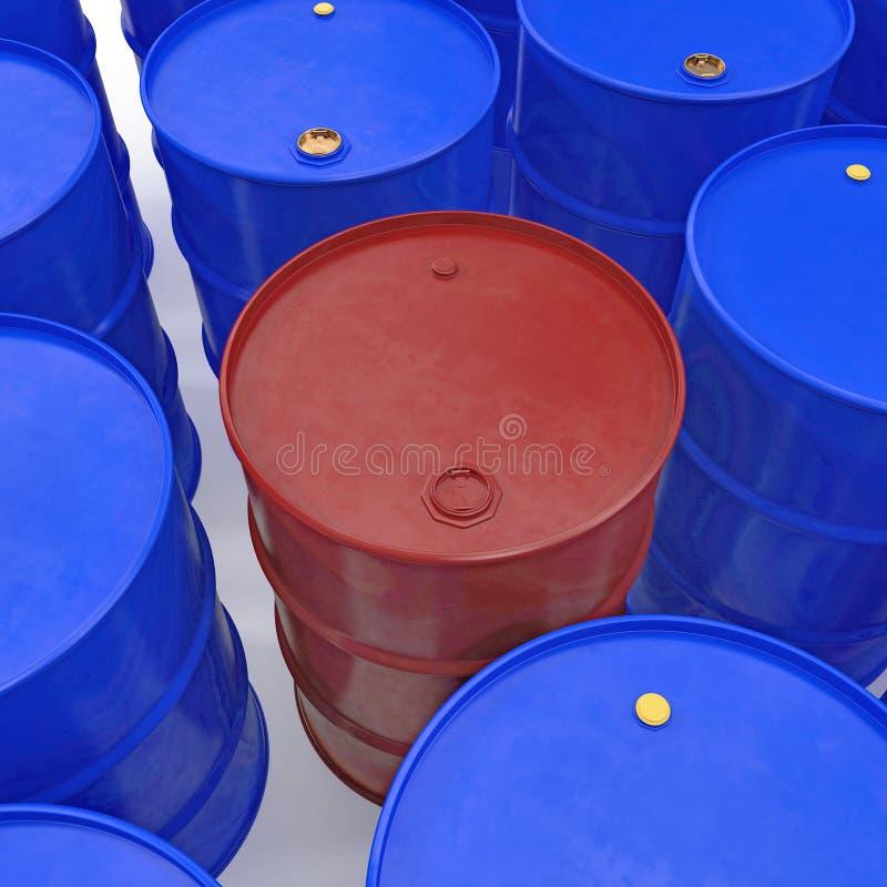 Oil barrels isolated on white. 3D illustration. Oil barrels isolated on white background. 3D illustration stock illustration