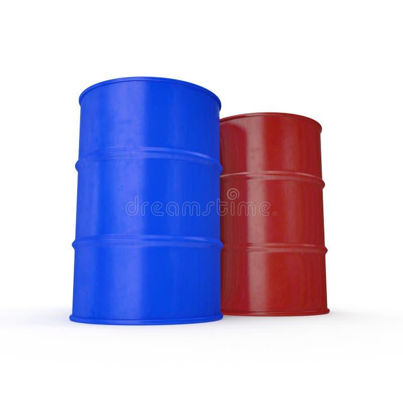 Oil barrels isolated on white. 3D illustration stock illustration