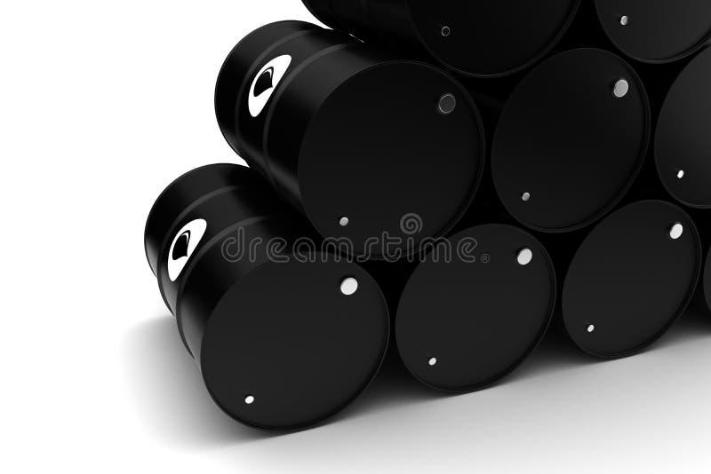 Oil Barrels. ( on white background stock illustration