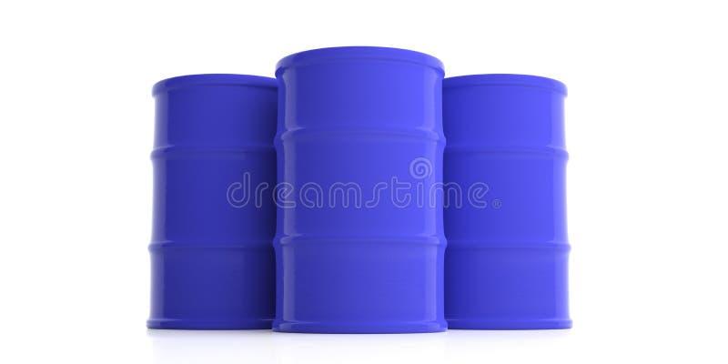 Oil barrels on white background. 3d illustration royalty free illustration