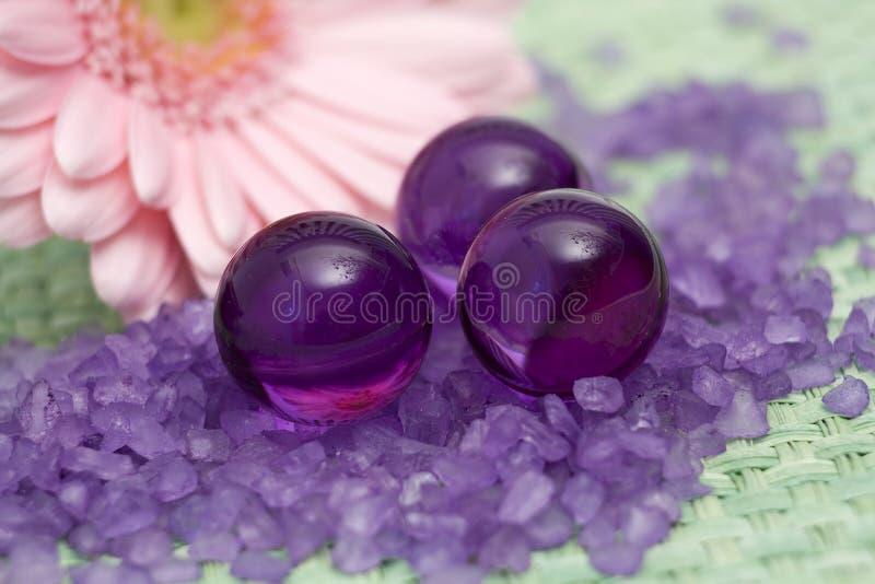 Oil bath pearls stock image
