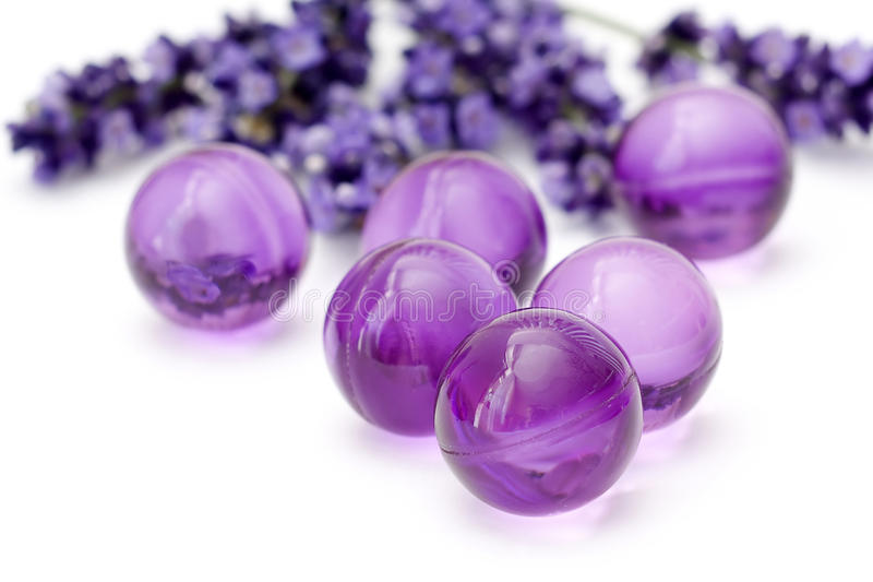 Oil bath pearls stock images