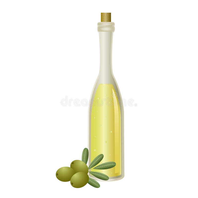Download Oil bottle stock vector. Image of ingredient, cork, shiny - 24790536