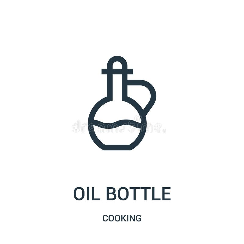 oil bottle icon vector from cooking collection. Thin line oil bottle outline icon vector illustration. Linear symbol vector illustration