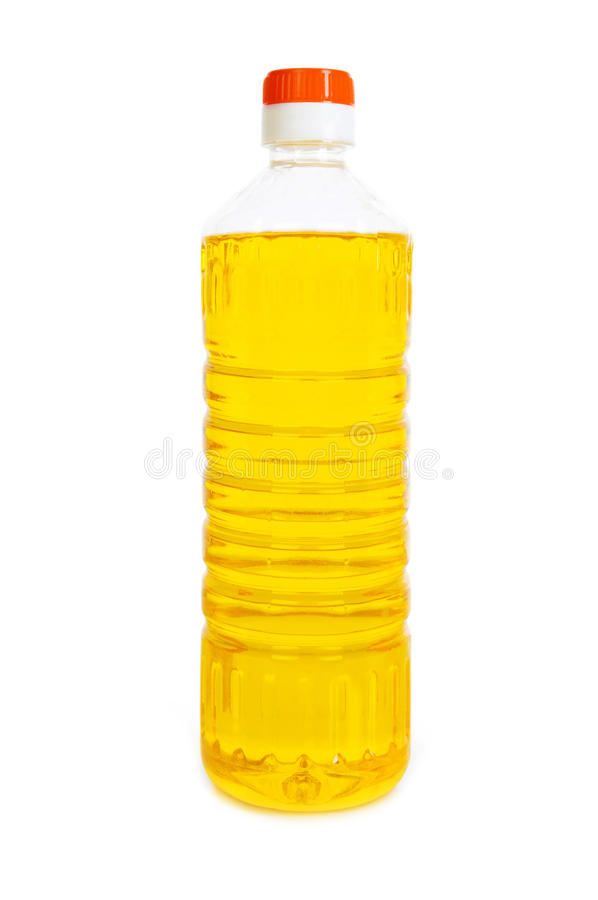 Oil in bottle isolated royalty free stock photography
