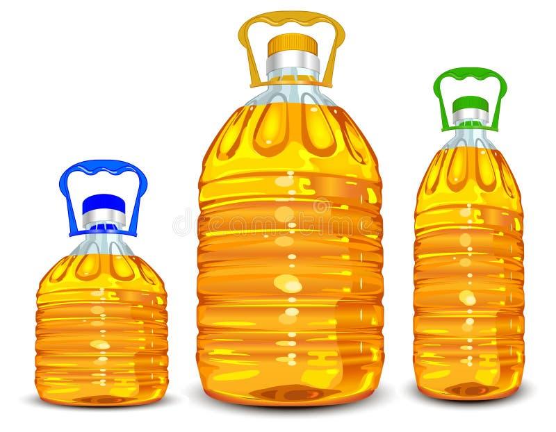 Oil bottles royalty free illustration