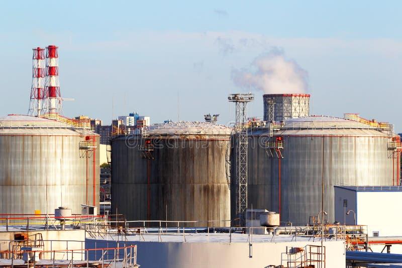 Oil business terminal. stock photo