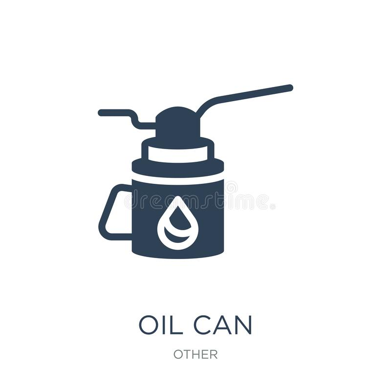 oil can icon in trendy design style. oil can icon isolated on white background. oil can vector icon simple and modern flat symbol royalty free illustration