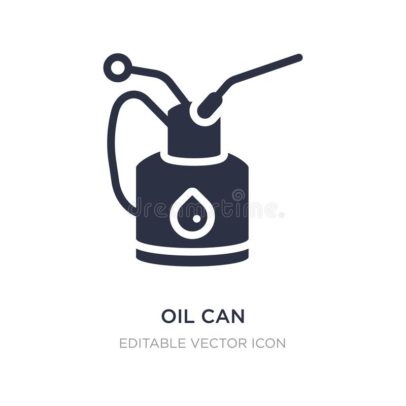 oil can icon on white background. Simple element illustration from Other concept vector illustration
