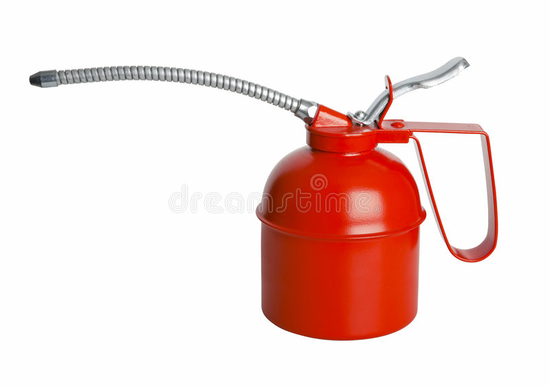 Download Oil can isolated with path stock image. Image of metallic - 3382823