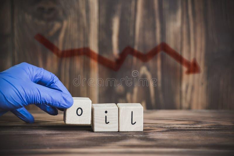 Oil crash, falling prices stock photo