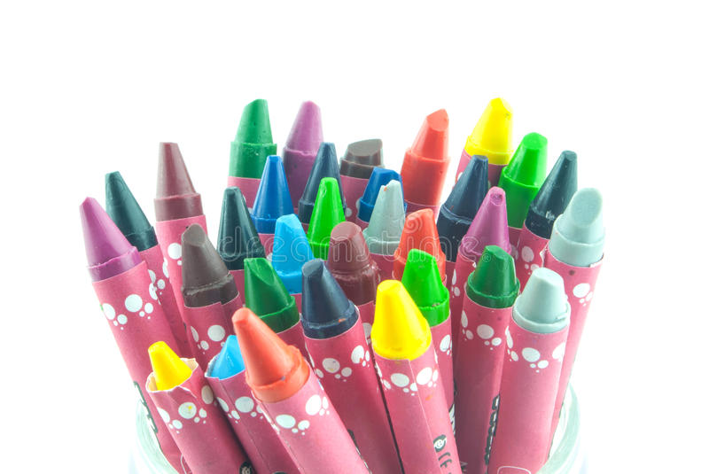 Oil crayons isolated royalty free stock image