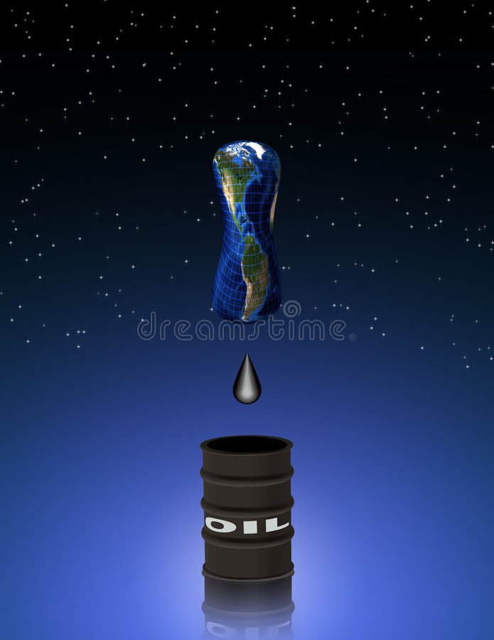 Oil Depletion royalty free illustration