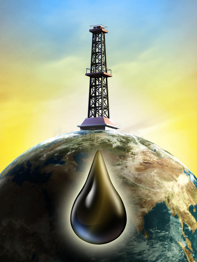 Download Oil derrick stock illustration. Illustration of business - 18679340