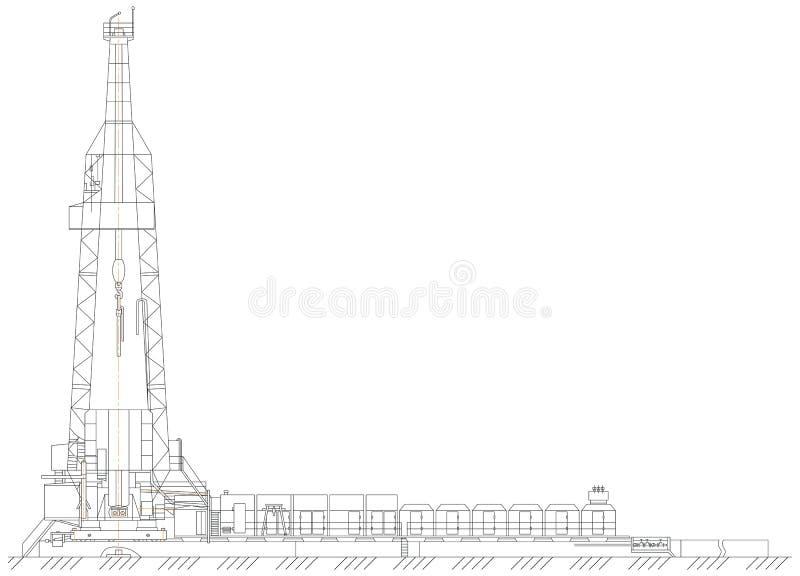 Download Oil derrick stock illustration. Image of structure, element - 26727861
