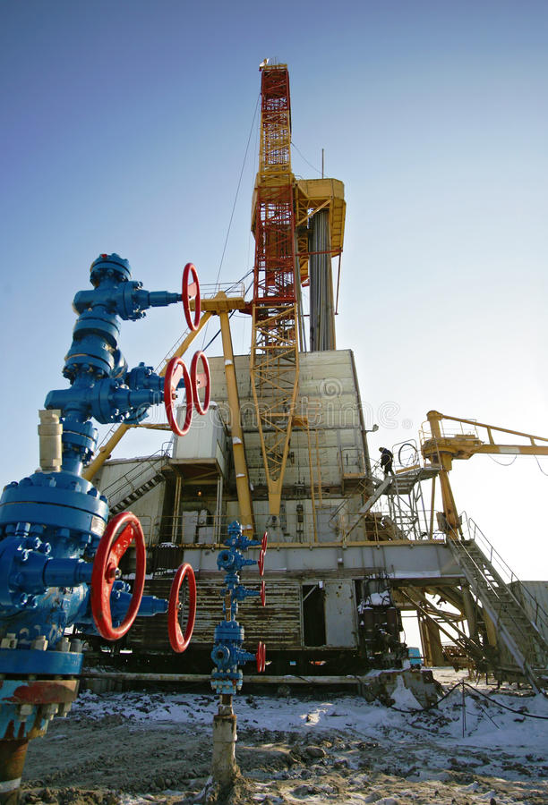Oil Derricks Royalty Free Stock Images