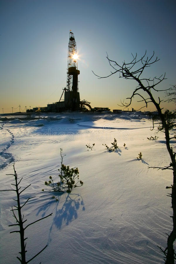Download Oil derricks stock image. Image of equipment, pipe, borehole - 15577981